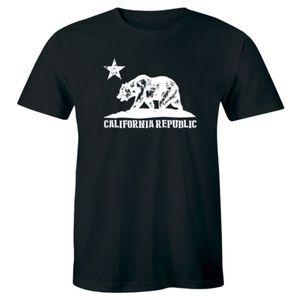 California Republic State Distressed Bear T-shirt